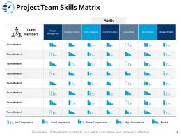 Project Team Skills Matrix Accounting Ppt Powerpoint Presentation Layouts Graphics Pictures