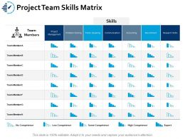 Project Team Skills Matrix Ppt Portfolio Gridlines