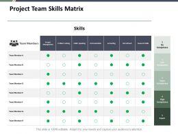Project Team Skills Matrix Ppt Slides Pictures