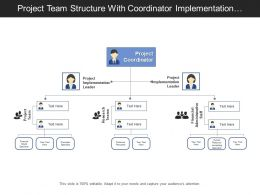 Project Team Structure With Coordinator Implementation Leader Project Research