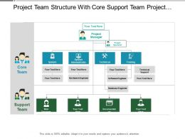 Project Team Structure With Core Support Team Project Manager And Specialist