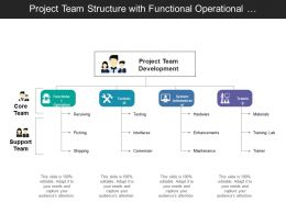 Project Team Structure With Functional Operational Technical And System Administrator