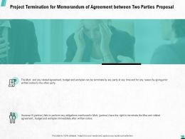Project Termination For Memorandum Of Agreement Between Two Parties Proposal Ppt Outline