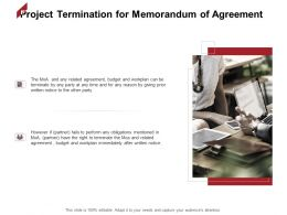 Project Termination For Memorandum Of Agreement Marketing Ppt Powerpoint