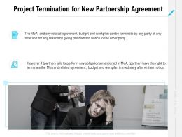 Project Termination For New Partnership Agreement Ppt Powerpoint Slides