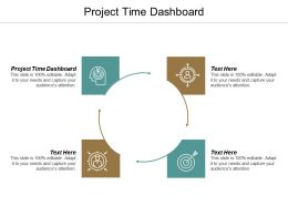 Project Time Dashboard Ppt Powerpoint Presentation Pictures Icons Cpb