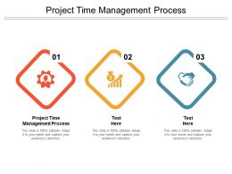 Project Time Management Process Ppt Powerpoint Presentation Designs Cpb
