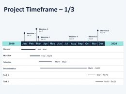 Project Timeframe L1406 Ppt Powerpoint Presentation Layouts Mockup