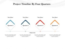 Project Timeline By Four Quarters