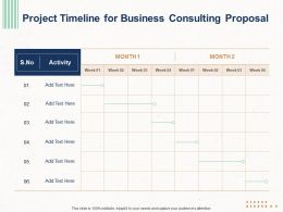 Project Timeline For Business Consulting Proposal Ppt Powerpoint Professional