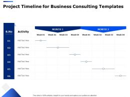 Project Timeline For Business Consulting Templates Ppt Powerpoint Presentation Slides