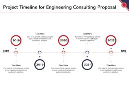 Project Timeline For Engineering Consulting Proposal Ppt Powerpoint Presentation Show