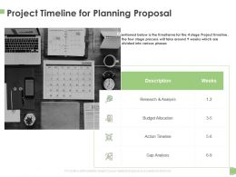 Project Timeline For Planning Proposal Ppt Powerpoint Presentation File Show