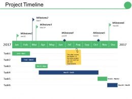 Project Timeline Ppt Icon Visual Aids