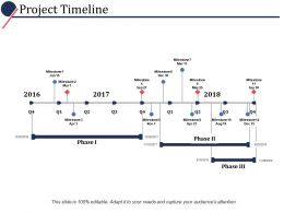 Project Timeline Ppt Powerpoint Presentation File Graphics Download