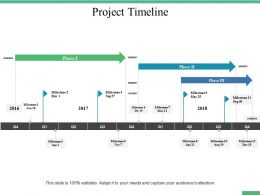Project Timeline Ppt Professional Design Inspiration
