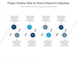 Project Timeline Slide For Smart Criteria For Objectives Infographic Template