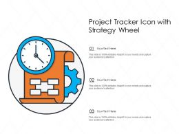 Project Tracker Icon With Strategy Wheel