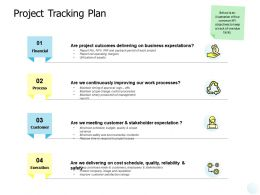 Project Tracking Plan Continuously Ppt Powerpoint Presentation Icon Brochure