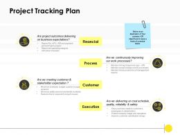 Project Tracking Plan Management Ppt Powerpoint Presentation Slide Download
