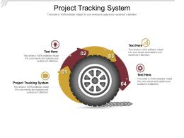 Project Tracking System Ppt Powerpoint Presentation Ideas Grid Cpb