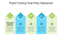 Project Tracking Tools Policy Deployment Ppt Powerpoint Presentation Samples Cpb