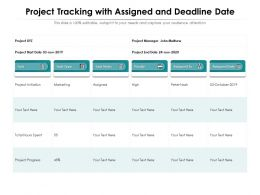 Project Tracking With Assigned And Deadline Date