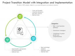 Project Transition Model With Integration And Implementation