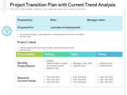 Project Transition Plan With Current Trend Analysis