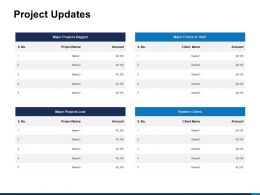 Project Updates Major Bagged Ppt Powerpoint Presentation Shapes