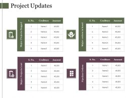 Project Updates Ppt Example File