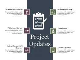 Project Updates Ppt Example Professional