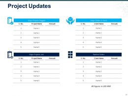 Project Updates Ppt Ideas