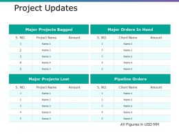 Project Updates Ppt Professional Graphics