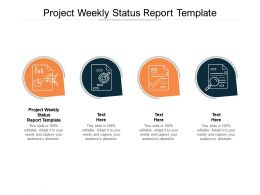 Project Weekly Status Report Template Ppt Powerpoint Presentation Examples Cpb