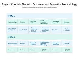 Project Work Job Plan With Outcomes And Evaluation Methodology