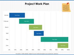 Project Work Plan Percentages Ppt Powerpoint Presentation Icon Visuals