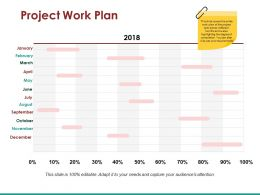 Project Work Plan Ppt Icon