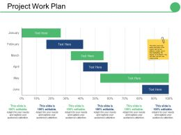 Project Work Plan Ppt Infographics Vector