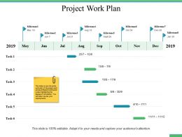 Project Work Plan Ppt Professional Slide Download