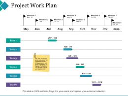 Project Work Plan Ppt Show Background Designs