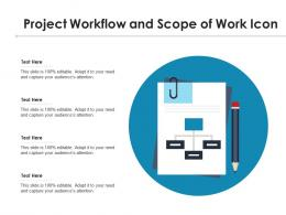 Project Workflow And Scope Of Work Icon