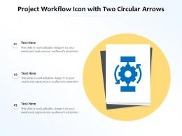 Project Workflow Icon With Two Circular Arrows