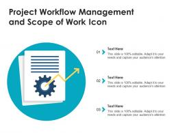 Project Workflow Management And Scope Of Work Icon