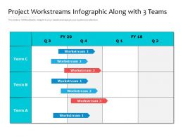 Project Workstreams Infographic Along With 3 Teams