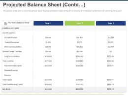 Projected Balance Sheet Contd Ppt Powerpoint Presentation Microsoft