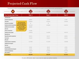 Projected Cash Flow Loan Payment Ppt Powerpoint Presentation Professional Aids
