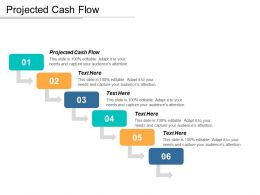 Projected Cash Flow Ppt Powerpoint Presentation Icon Templates Cpb