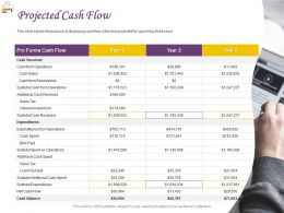Projected Cash Flow Ppt Powerpoint Presentation Professional Slide Portrait