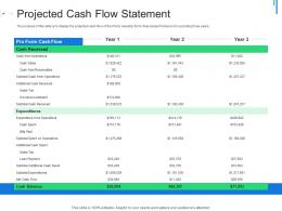 Projected Cash Flow Statement Initial Public Offering IPO As Exit Option Ppt Pictures Slide